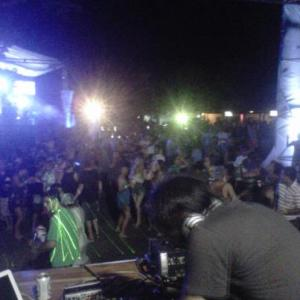 A picture from the stage at Magma Fest at Charco Verde on Isla de Ometepe