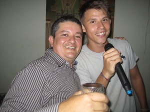 Winston (my homestay father) and Nick (my homestay brother) killing it on the karaoke. I´m pretty sure this one was some Danish version of a popular English song