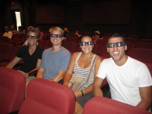 Sitting in the theatre with our 3D glasses on waiting to watch the movie explaining the Panama Canal. Safe to say this movie definitely did not win any Oscars