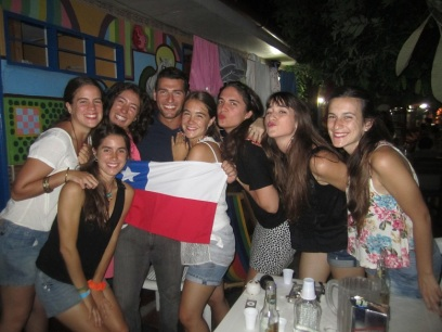 This is the moment where my dream came true haha! Having fun at the hostel in Cartagena before heading out to a party.