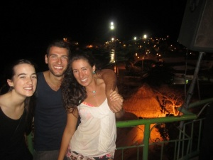 It is hard to tell in this picture but the view of Taganga from this night club was almost nicer than during the day.
