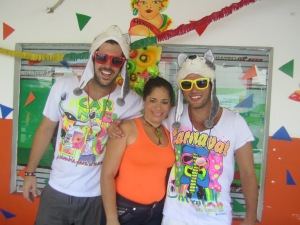 Some lady wanted a photo with us as we made our way to the Carnaval.