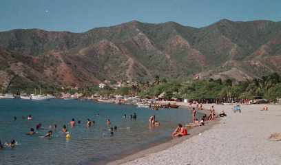 The beach at Taganga