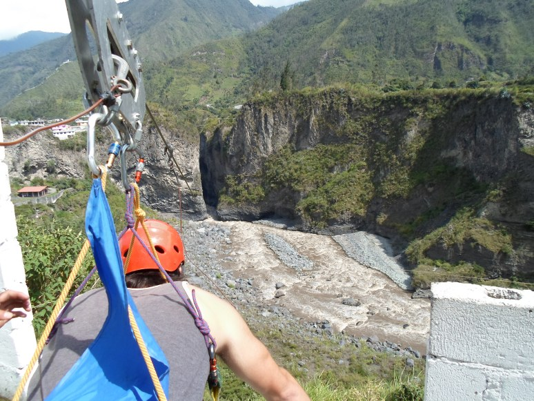 What Steamin Beamen saw as he prepared for his first zipline ever!