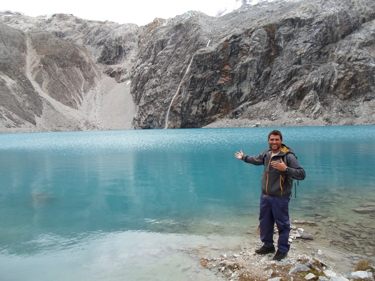 Here I am in fornt of Laguna 69 at over 4600 metres. Altitude got the best of me a few hours later but I could not have been more impressed by Laguna 69 at the bottom of a massive glacier.