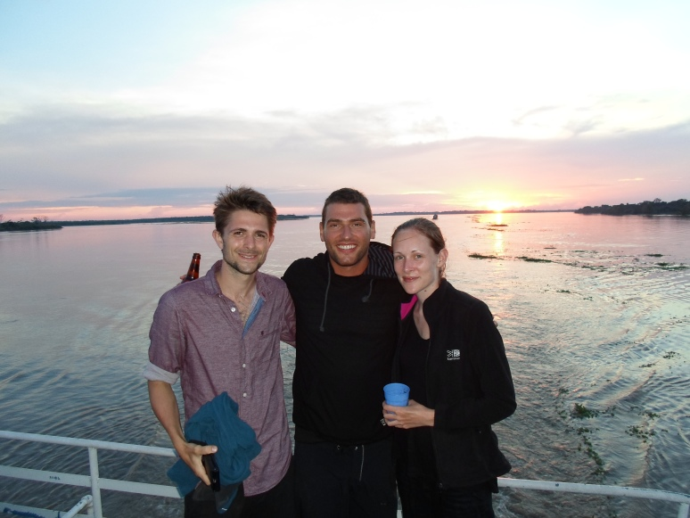 Enjoying the sunset with two of my favorite people on my trip, Kathy and Adam of England. Their generosity and kindness were never eclipsed during my travels.